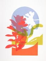 Summer garden, screen print on Bockingford paper, 38x50 cm, V Edition 6.