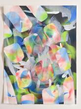 Acrylic,  cut Bockingford paper, 38 x 51 cm, 2021
