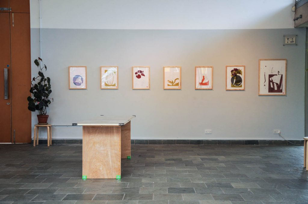 The Plant Room, print exhibition at Yorkshire Artspace Studio supported by Making Ways.